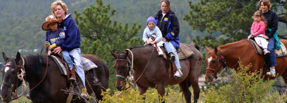 Camp Ray Ray Families on Horseback